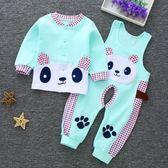嬰兒套裝 嬰兒衛生衣秋褲套裝棉質男女寶寶內衣背帶褲新生兒衣服0-3-6-12個月【潮男一線】