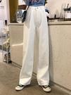 牛仔寬管褲 秋裝韓版寬鬆高腰小個子泫雅褲拖地褲白色闊腿牛仔褲學生長褲子潮 寶貝計畫