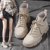 短靴 馬丁靴女英倫風夏季新款韓版百搭學生厚底網紅瘦瘦透氣短靴女 海港城