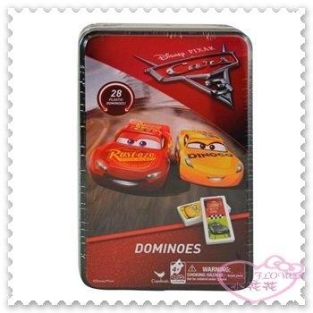 ♥小花花日本精品♥《Cars3》汽車總動員 閃電麥坤 骨牌遊戲組 骨牌玩具 兒童玩具 安全玩具 50118601