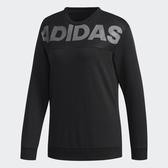 ADIDAS Crew DN Lineage 女裝 長袖 休閒 慢跑 寬鬆 舒適 黑【運動世界】DT2382