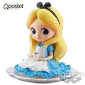 日本限定 迪士尼 Disney Q posket 愛麗絲 午茶版 公仔 (蠟筆色)