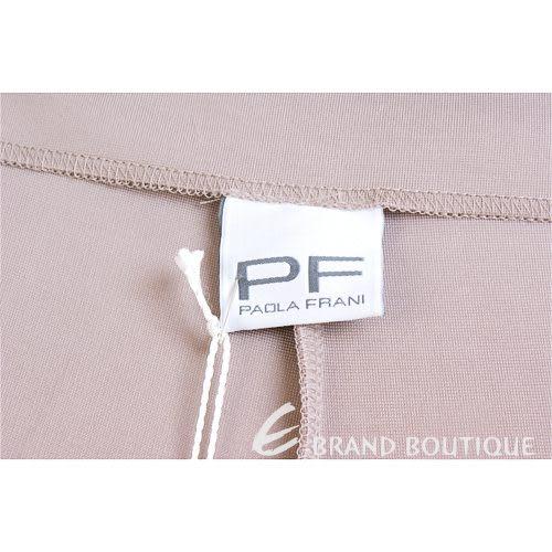 PAOLA FRANI 淺咖啡色車縫線長褲 1220042-C5