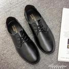 廚房防滑工作鞋男鞋防水廚師鞋專用夏季透氣黑色上班鞋休閒皮鞋男 黛尼時尚精品