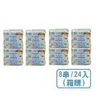 nac nac EDI 超純水嬰兒潔膚柔濕巾80抽(8串/24包/箱購)