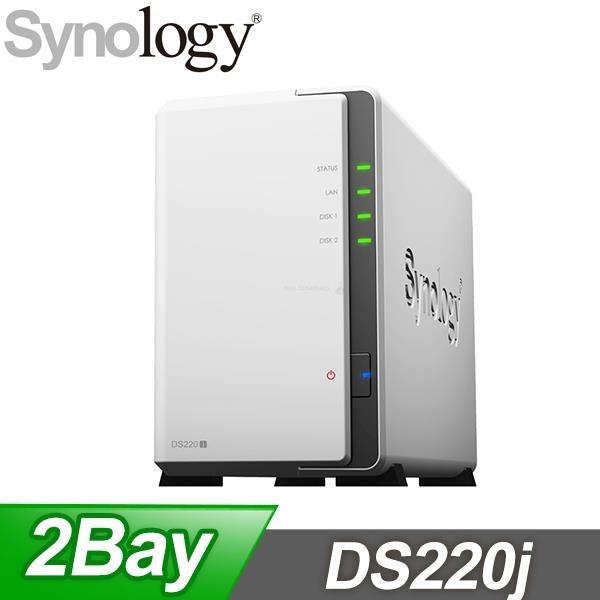 【南紡購物中心】Synology 群暉 DiskStation DS220j 2Bay NAS 網路儲存伺服器