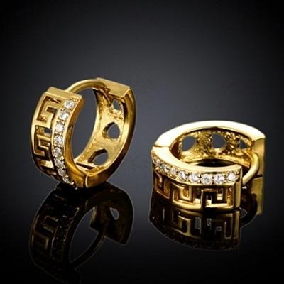 耳環 玫瑰金純銀 鑲鑽-精緻唯美氣質百搭生日情人節禮物女飾品2色73bu5【時尚巴黎】