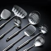 不銹鋼鍋鏟湯勺防燙廚具一體長柄炒菜鏟子加厚炒勺鐵菜鏟    蜜拉貝爾