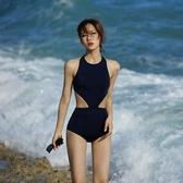 連身泳衣 溫泉女保守小胸聚攏小清新遮肚顯瘦性感露背連體女 - 古梵希