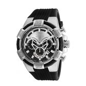 【INVICTA】繩索系列 - 三眼計時腕錶 - 黑銀新繩索