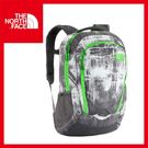 【The North Face 27L 15吋電腦背包《墨灰印花/氪綠》】CHJ0/出國/旅遊/休閒