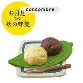 Hamee 日本 DECOLE concombre 美食賞月祭 療癒公仔擺飾 (雙色牡丹餅) 586-923620