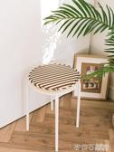 圓形餐椅坐墊家用海綿凳子小圓凳通用墊子學生墊加厚圓墊套罩椅套  茱莉亞