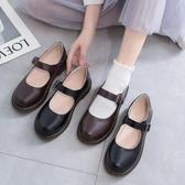 小皮鞋女英倫復古配裙子秋季新款日系軟妹文藝百搭洛麗塔鞋子 瑪麗蘇