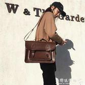 電腦包  戴爾華碩英倫商務電腦包15.6寸雙肩包女筆記本14寸韓版手提單肩  欧韩流行馆