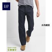 Gap男裝 純棉經典標准水洗五袋牛仔褲 737512-水洗藏藍
