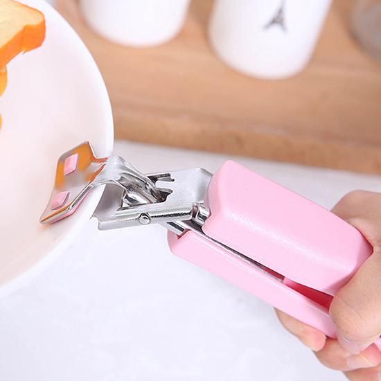 防燙夾 隔熱夾 取盤夾 取盤器 取碗夾 隔熱 不鏽鋼 不銹鋼 矽膠 廚房 微波爐 電鍋【J119】慢思行