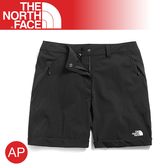 【The North Face 女 防潑水短褲《黑》】3RLJ/運動褲/慢跑褲/排汗透氣/跑步/登山健行