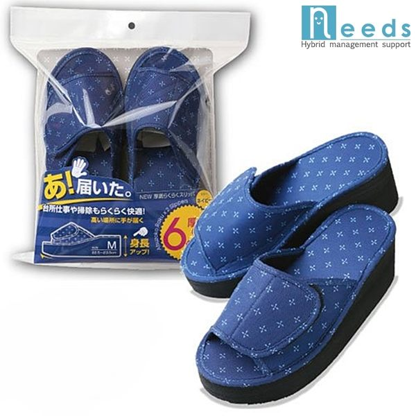 又敗家日本NEEDS防水高6cm厚底拖鞋室內拖鞋厚底らくらく增高拖鞋厚底鞋高底鞋