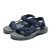 AIRWALK 涼鞋 深藍 魔鬼氈 織帶 輕量 減壓 男 (布魯克林) A821230180