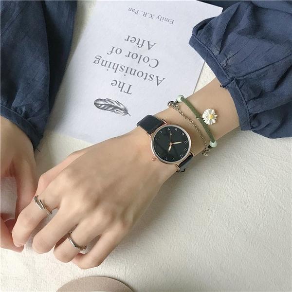 手錶女學生韓版簡約潮流高中女生初中生新款指針百搭