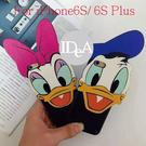 Apple 蘋果 iphone6S/6S Plus 迪士尼家族 唐老鴨 黛絲 臉部特寫手機殼 硬殼 保護殼 Daisy Donald Duck