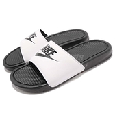 Nike 拖鞋 Benassi JDI GD 著用 白 黑 男女款 基本款 黑白 涼鞋 百搭款【ACS】 343880-100