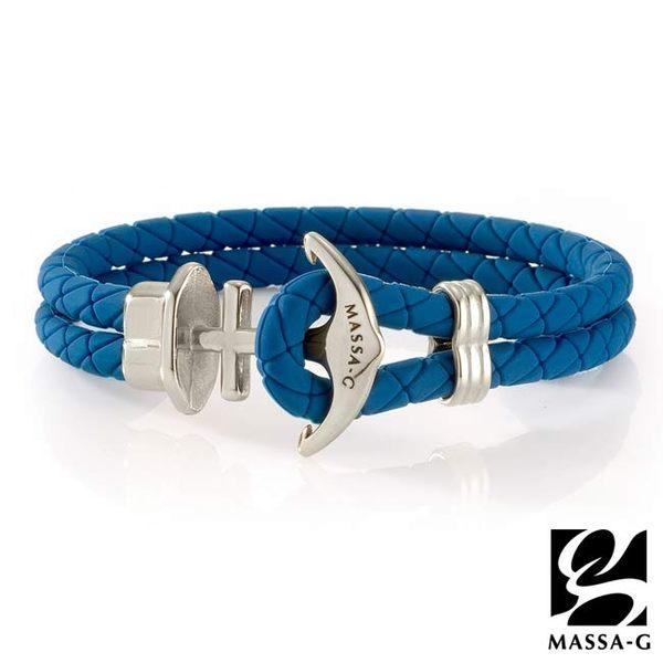 絕色紀念 鍺鈦能量手環-藍 MASSA-G