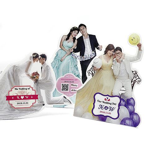 幸福婚禮小物❤客製化桌上型人形立牌---1組5入❤婚禮佈置/婚宴佈置/人形立牌/人形桌卡/客製化
