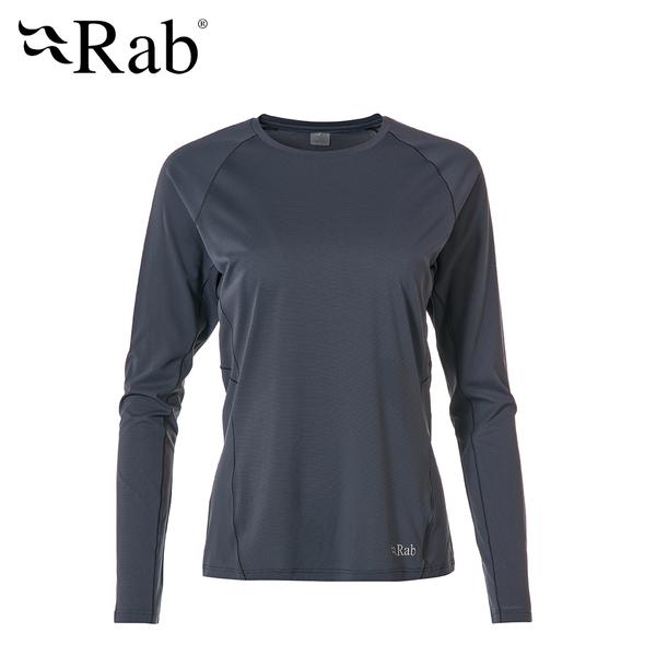 英國 RAB Force LS Tee  透氣長袖排汗衣 女款 鋼鐵藍 #QBU69
