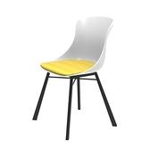 組 - 特力屋萊特 塑鋼椅 金屬腳架/白椅背/黃座墊