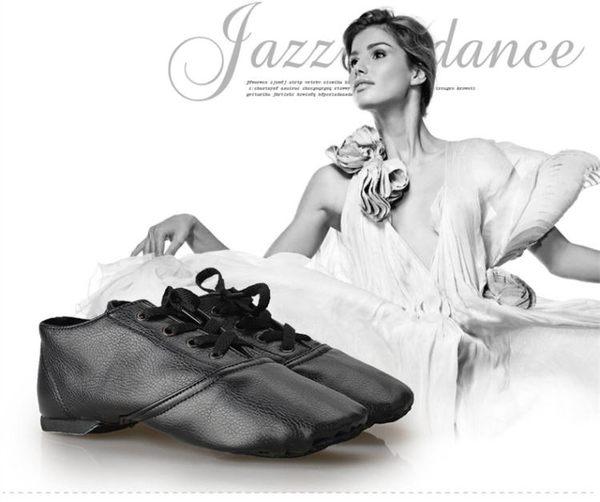 舞蹈鞋女軟底爵士鞋低幫皮革爵士靴拉丁鞋民族舞內外練功芭蕾舞鞋 降價兩天