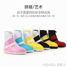 雨鞋套防滑加厚底耐磨鞋套防水雨天成人韓國可愛學生戶外防雨鞋套 莫妮卡小屋