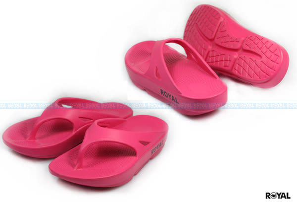 ROYAL 新竹皇家自訂款 桃紅 橡膠 蹺蹺板 夾腳拖鞋 女款 NO.I6810