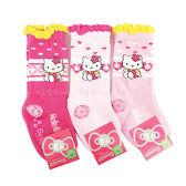 【KP】9-11cm 兒童襪 Hello Kitty SANRIO 三麗鷗 愛心 菱形 寶寶 長襪 卡通襪 襪子 防滑