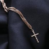 合金項鍊-金色十字架百搭女鎖骨鍊73uz23【時尚巴黎】