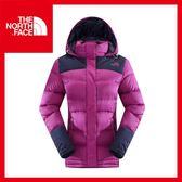 【The North Face 女 800 fill羽絨兜帽外套《紫紅/宇宙藍》】CTV7/保暖/登山/賞雪
