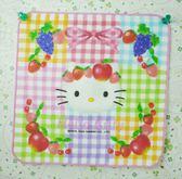 【震撼精品百貨】Hello Kitty 凱蒂貓~方巾/毛巾-彩色格子水果造型