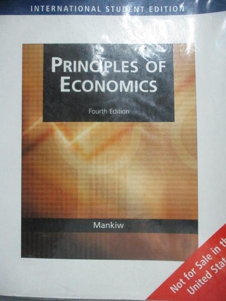 【書寶二手書T1/大學商學_YEX】Principles of Economics_4/e_Mankiw