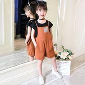 女童夏裝2018新款洋氣潮衣時髦套裝韓版時尚女大童短袖套裝兩件套 七夕節禮物 全館八折