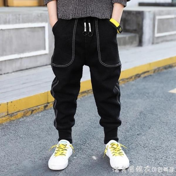 中大童裝男童春裝韓版牛仔褲2021新款兒童褲子春秋款長褲潮春季酷 美眉新品