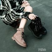 馬丁靴馬丁靴女英倫風學生韓版百搭靴子ins短筒網紅小短靴     艾維朵