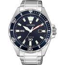 【送米奇電扇】CITIZEN 星辰 光動能運動風手錶-藍x銀/43.5mm BM7450-81L