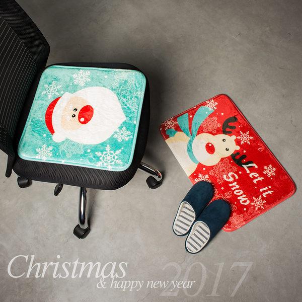聖誕交換禮物 法蘭絨地墊 坐墊 椅墊 地毯 衛浴踏墊 旺寶