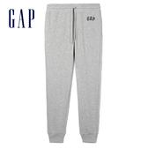 Gap男裝 Logo舒適鬆緊束口褲 443924-淺紫灰