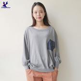 【早秋新品】American Bluedeer - 大學寬鬆針織上衣(魅力價) 秋冬新款