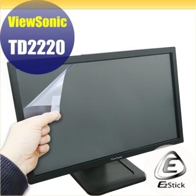 【Ezstick】優派 ViewSonic TD2220 22吋寬 靜電式LCD液晶螢幕貼 (可選鏡面或霧面)