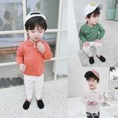童裝男童polo衫春秋裝新款寶寶長袖線衫兒童針織衫小童襯衫潮艾美時尚衣櫥