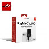 【敦煌樂器】IK Multimedia iRig Mic Cast HD 雙向錄音麥克風