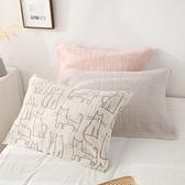 一對裝純枕巾全棉學生單人棉4層紗布枕頭巾【聚寶屋】